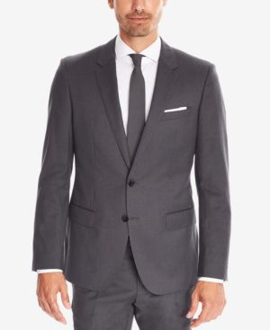 HUGO BOSS Boss Men'S Regular/Classic-Fit Super 120 Italian Virgin Wool Sport Coat in 061 Grey Ch
