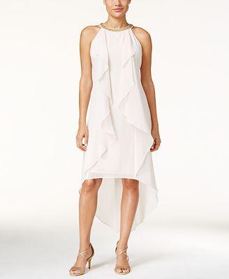 Thalia Sodi Ruffled High-Low Dress, Created for Macy's
