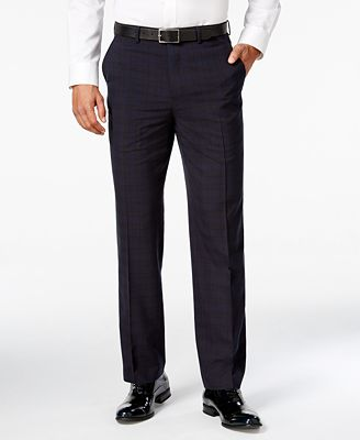Sean John Men's Classic-Fit Blue Plaid Tuxedo Pants - Suits & Suit ...