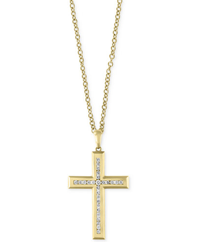 Doro by effy mens 22 diamond cross pendant necklace 1 ct tw doro by effy mens 22 aloadofball Image collections