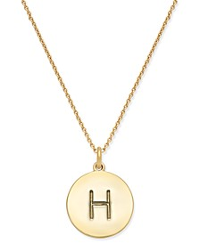 """12k Gold-Plated Initials Pendant Necklace, 17"""" + 3"""" Extender"""