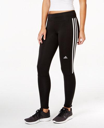 adidas response climalite running leggings pants women macy 39 s. Black Bedroom Furniture Sets. Home Design Ideas