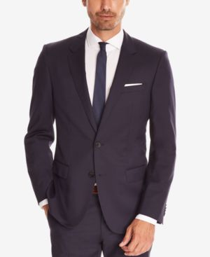 HUGO BOSS Boss Men'S Slim-Fit Super 120 Italian Virgin Wool Sport Coat in Navy