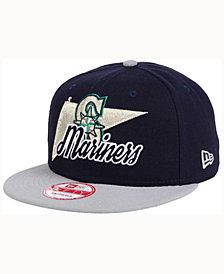 New Era Seattle Mariners Logo Stacker 9FIFTY Snapback Cap