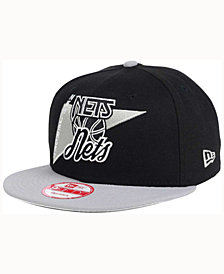 New Era New Jersey Nets HWC Logo Stacker 9FIFTY Snapback Cap