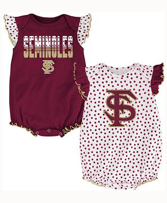 Outerstuff Baby Girls Florida State Seminoles Polka Fan Set
