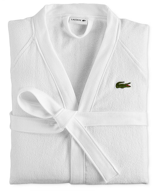 93b0abe8a1 Lacoste Home Pique Bath Robe   Reviews - Macy s