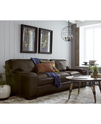 kassidy leather sofa, created for macy's - furniture - macy's