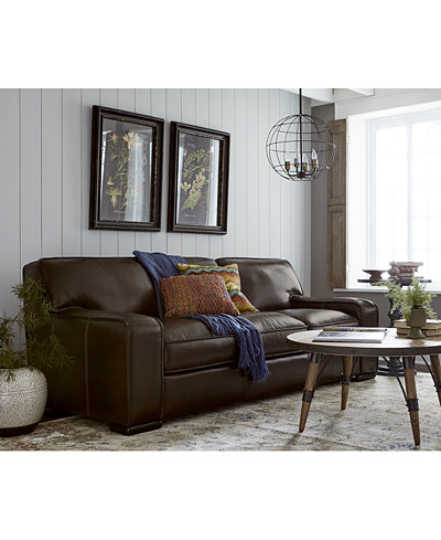 Kassidy Leather Sofa Collection Furniture Macy S