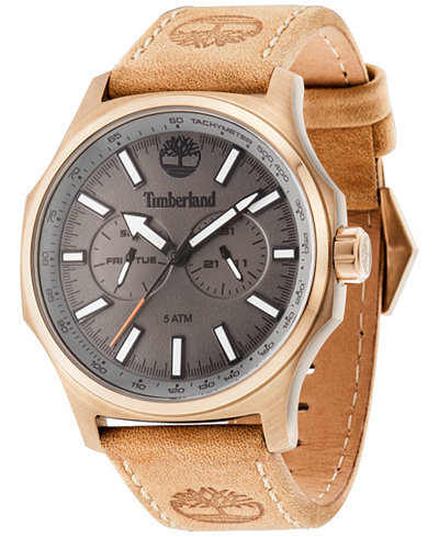 timberland men s leyden brown leather strap watch 46x57mm timberland men s leyden brown leather strap watch 46x57mm tbl14813jsk61