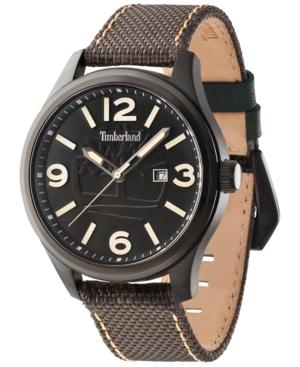 Timberland Men's New Market Brown Nylon Strap Watch 45x55mm TBL14476JSB02