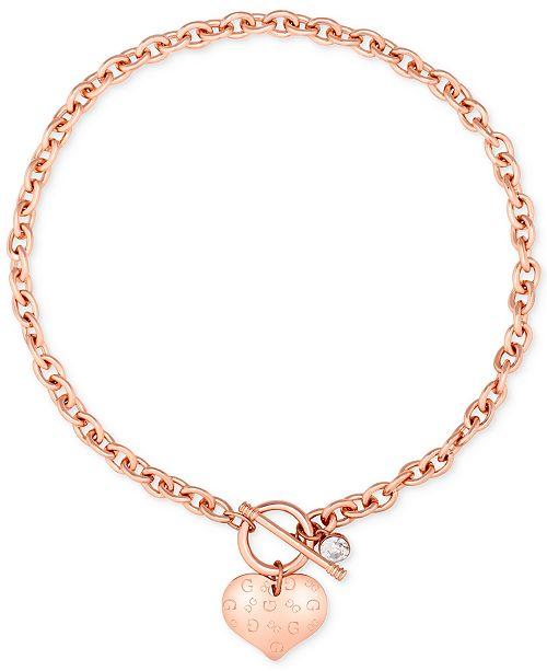 GUESS Heart Charm Pendant Bracelet