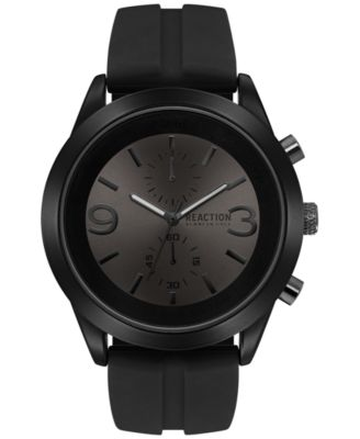 Image of Kenneth Cole Reaction Men's Chronograph Black Silicone Strap Watch 47mm 10030939