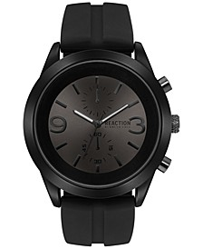 Men's Chronograph Black Silicone Strap Watch 47mm 10030939