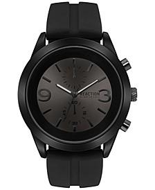 Men's Chronograph Black Silicone Strap Watch 47mm 10030939