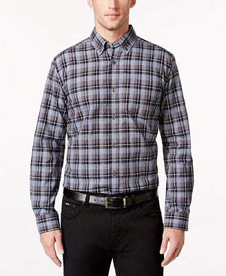 Tricots St Raphael Men's Big & Tall Plaid Shirt