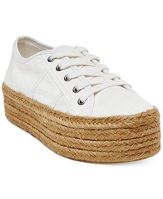 Steve Madden Women's Hampton Flatform Espadrille Sneakers