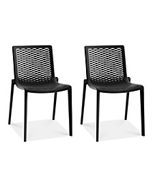 Netkat Set of 2 Indoor/Outdoor Chairs, Quick Ship