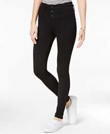 Celebrity Pink Juniors' High-Waist Skinny Ponte Pants