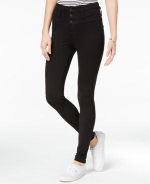 Juniors' High-Waist Skinny Ponte Pants