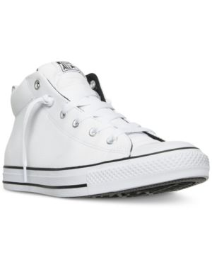 Men'S Chuck Taylor All Star Street Hiker Mid Top Shoes From Finish Line, White/Black