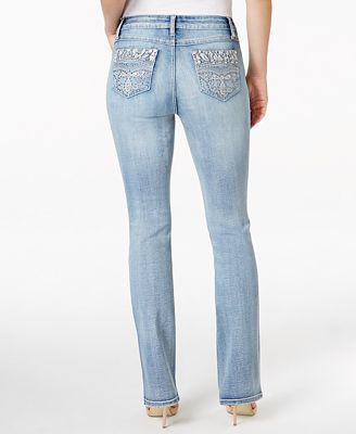Earl Jeans Embellished Light Wash Bootcut Jeans - Jeans - Women ...