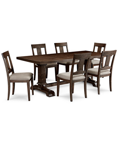 Briarcliff Dining Furniture 7 Piece Set Dining Pedestal Table