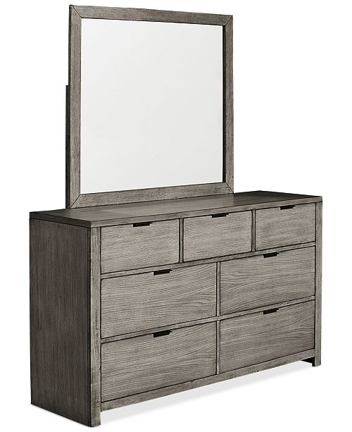 Furniture Tribeca Grey 7 Drawer Dresser Created For Macy 39 S Furniture Macy 39 S
