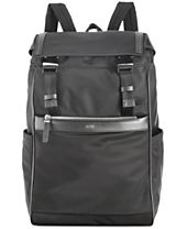 HUGO Men's Leather Trim Backpack