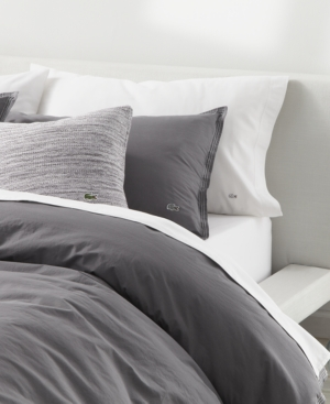 Image of Lacoste Home Relaxed & Washed Castle Rock Light Gray Full/Queen Duvet Set Bedding