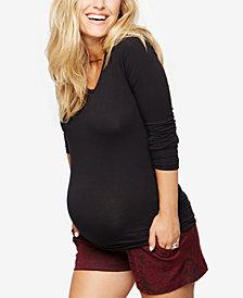 A Pea In The Pod Jacquard Maternity Shorts