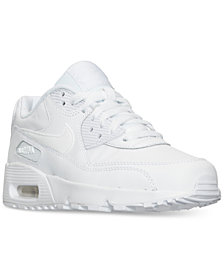 Nike Big Boys'   Air Max 90 Leather Running Sneakers from Finish Line