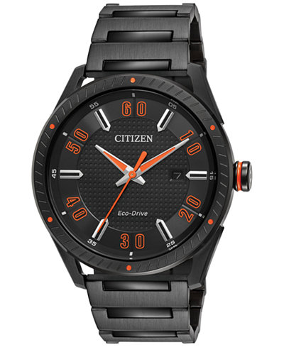 Citizen Drive from Citizen Eco-Drive Men's Black Ion-Plated Stainless Steel Bracelet Watch 42mm BM6995-51E