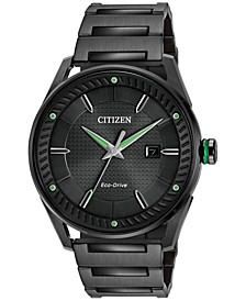 Drive from Citizen Eco-Drive Men's Black Ion-Plated Stainless Steel Bracelet Watch 42mm BM6985-55E