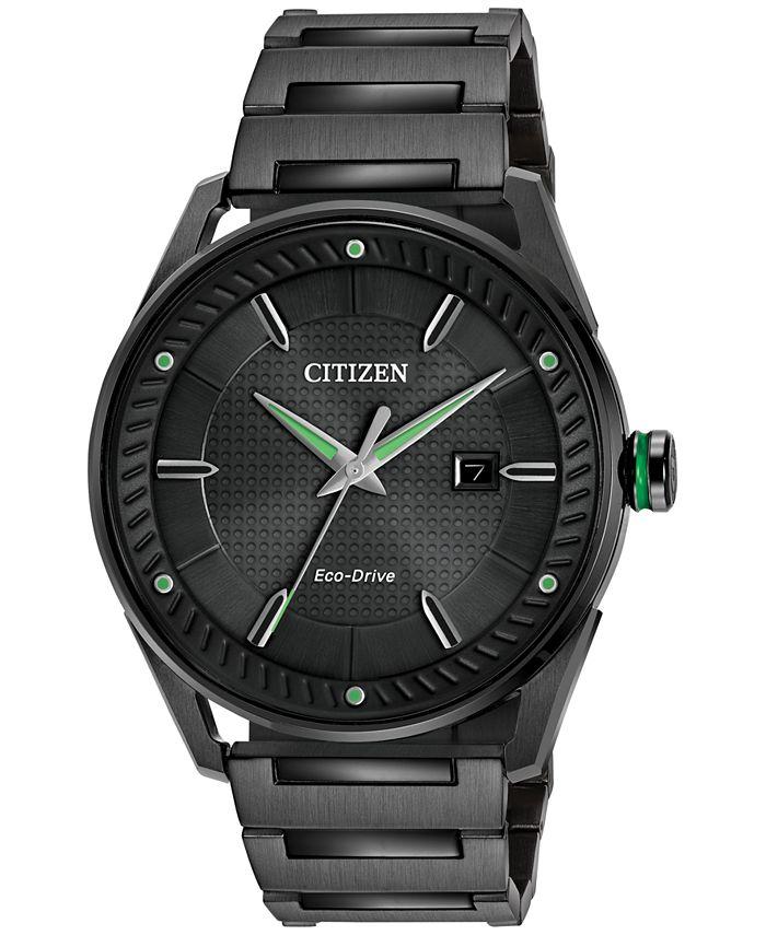 Citizen - Men's Drive Black Ion-Plated Stainless Steel Bracelet Watch 42mm BM6985-55E