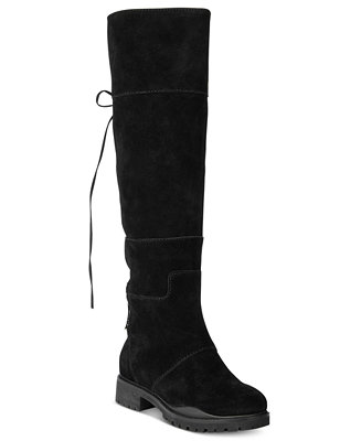 b8f0cdef1ea Nine West Mavira Back Lace-Up Over-The-Knee Boots   Reviews - Boots - Shoes  - Macy s