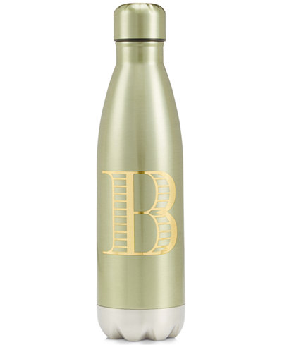 Celebrate Shop Monogrammed Water Bottle, Created for Macy's