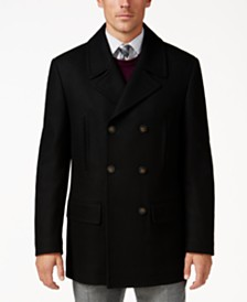 Lauren Ralph Lauren Luke Solid Wool-Blend Peacoat