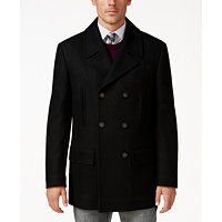 Deals on Lauren Ralph Lauren Luke Solid Wool-Blend Peacoat