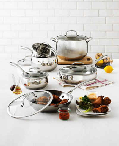 Belgique Stainless Steel 11-Pc. Cookware Set, Only at ,