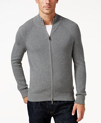 Michael Kors Men's Full-Zip Sweater - Sweaters - Men - Macy's