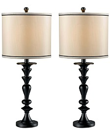 Kenroy Bobbin 2-Pc. Table Lamp Set