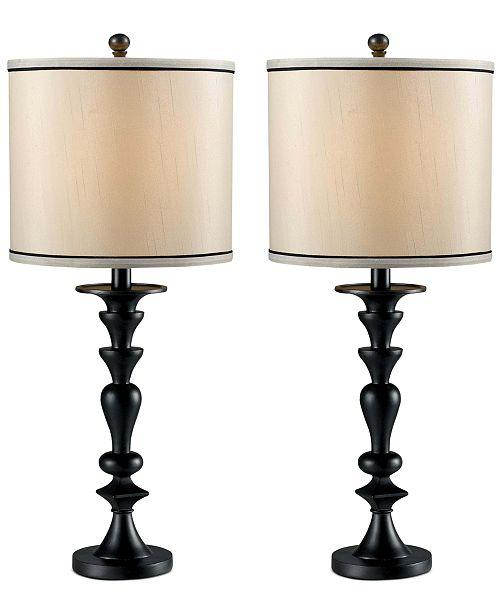 Kenroy Home Kenroy Bobbin 2-Pc. Table Lamp Set