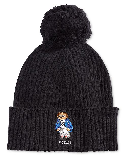 96d666e2d3ac9 Polo Ralph Lauren Men s Ski Bear Pom-Pom Hat   Reviews - Hats ...