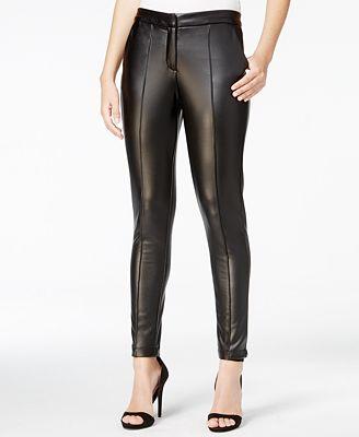 Fair Child Faux-Leather Leggings - Pants - Women - Macy's