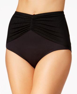 Diva Mesh High-Waist Bikini Bottoms
