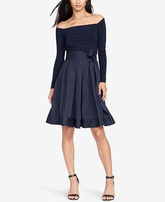 Lauren Ralph Lauren Jersey Taffeta Dress