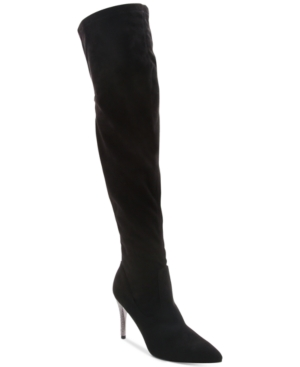 Nina  ROCKLIN OVER-THE-KNEE POINTED-TOE BOOTS WOMEN'S SHOES