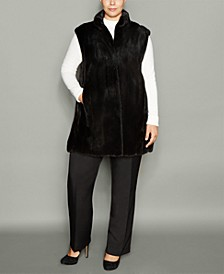 Plus Size Mink Fur Vest