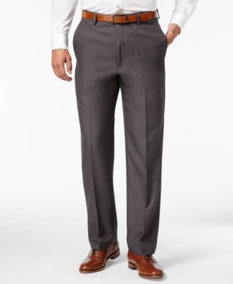 Image of Haggar Microfiber Performance Classic-Fit Dress Pants, Only at Macy's